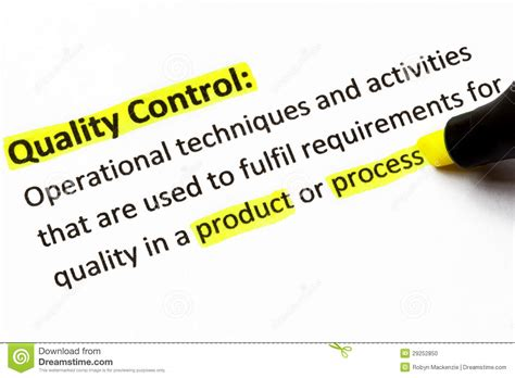 Quality Control Definition Stock Photo  Image 29252850