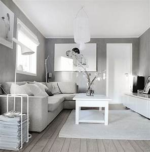 25 fotos de decoracion de salas modernas pequenas grey for Gray and white living room