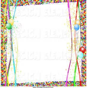 Birthday Confetti Border Clip Art