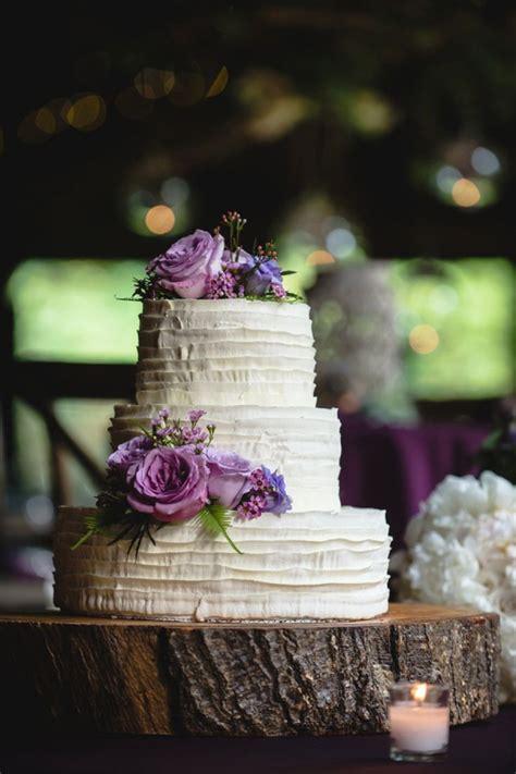 Simple And Elegant Purple Wedding Cake A Purple Rustic