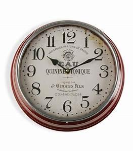 Horloge Murale Rouge : horloge murale ronde m tal rouge parfums de grasse ~ Teatrodelosmanantiales.com Idées de Décoration