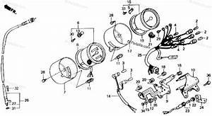 Honda Motorcycle 1989 Oem Parts Diagram For Speedometer