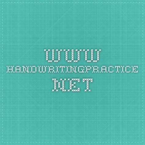 wwwhandwritingpracticenet  images handwriting