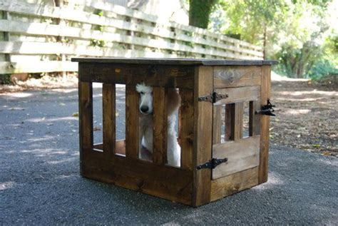 wood dog crate dog kennel  table wooden dog house