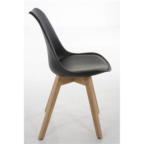 siege scandinave lot de 4 chaises de salle à manger scandinave simili cuir