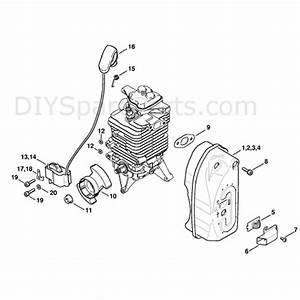 Stihl Br 500 Backpack Blower  Br 500  Parts Diagram  Muffler