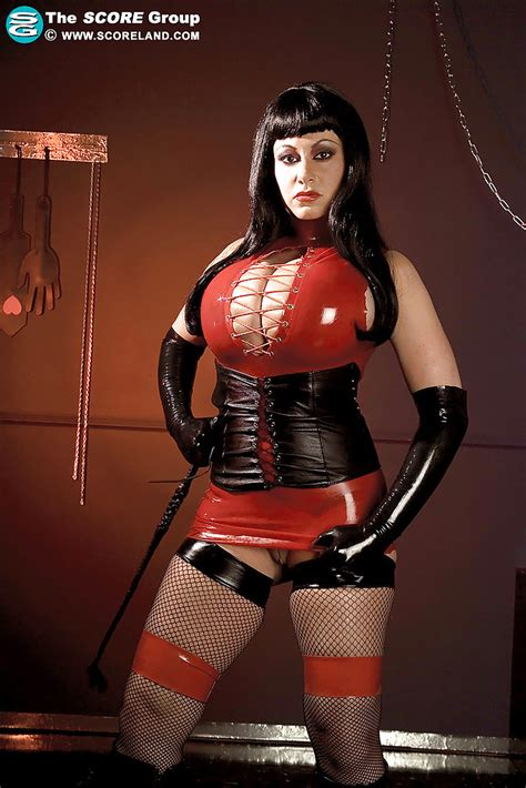 Hot Busty Vixen In Latex Dress Crystal Gunns Gets Off With