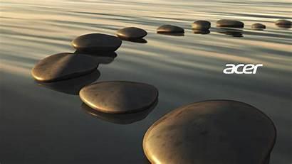 Acer Water Pc Wallpapers Desktop Stones Stone