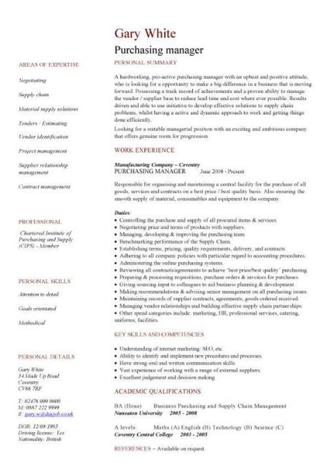 stylish procurement cv template majestic purchasing