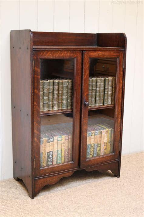 Two Door Bookcase small oak two door bookcase antiques atlas