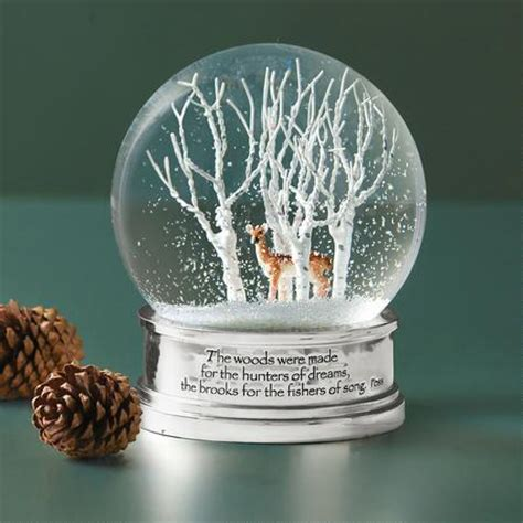 woods in winter snow globe decor home furnishings