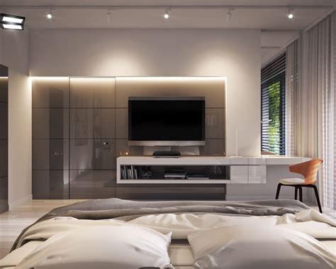 Tv In Bedroom Design Ideas by Bedroom In Apartment Vis For Lk Projekt Pl On