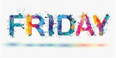 Friday Word Happy Week End Vector Clip