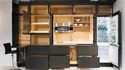 Kitchen Cabinets Hide Stealth Closet Hidden Apartment