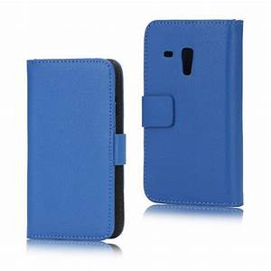 Samsung Galaxy S3 Mini I8190 Wallet Leather Case - Blue