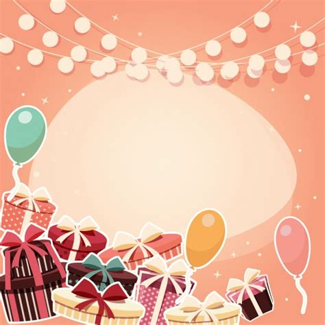 coloured birthday background design vector free