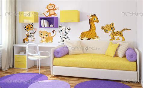 chambre bébé animaux stickers muraux chambre bébé safari animaux jungle kit