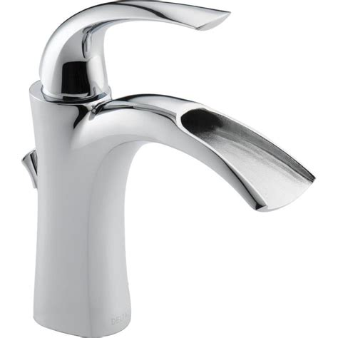 shop delta nyla chrome  handle single hole watersense