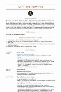 senior pastor resume samples visualcv resume samples With church resume