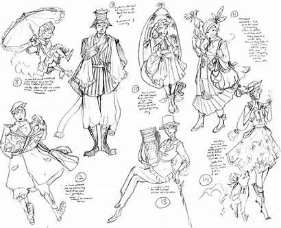 Character Concept Sketches Era Ww1 Fantasy Mica