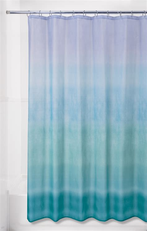 blue ombre shower curtain essential home 70 x 72 quot ombre shower curtain shop your