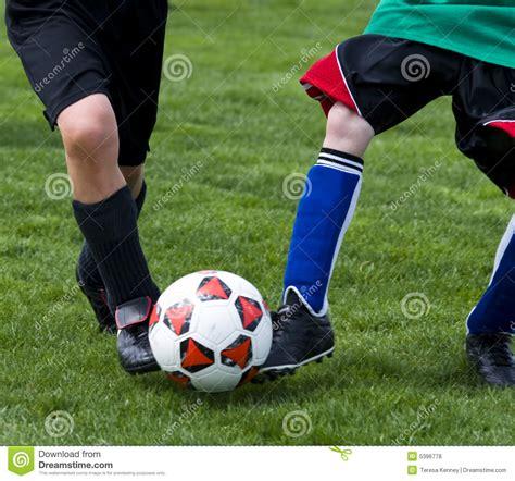 kick soccer ball stock photo image  power field