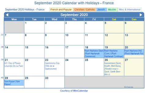 print friendly september  france calendar  printing