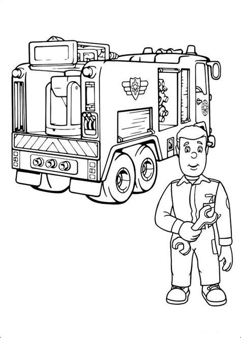 tegninger til farvelægning brandmand sam 19