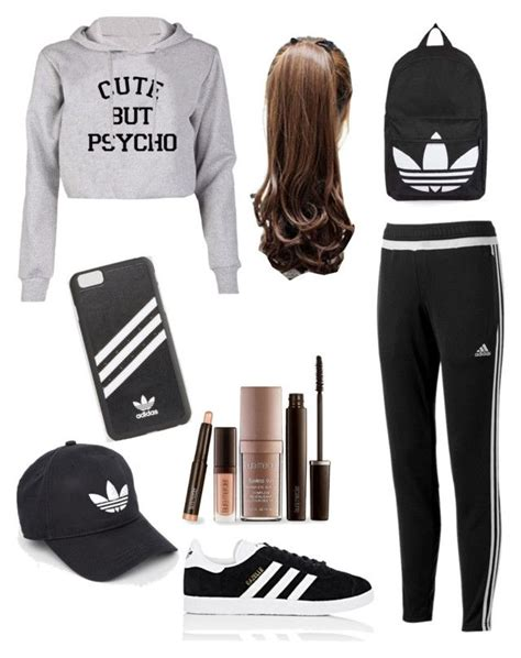 U0026quot;Cute Lazy Day Outfitud83dudc95u0026quot; by ciciflores on Polyvore featuring adidas Laura Mercier and Topshop ...