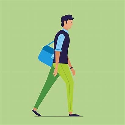 Animation 2d Future Deloitte Character Mobility Behance
