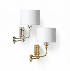 Barbara Cosgrove BC909 Swing Arm Wall Sconce in Antique