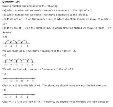 integers worksheet grade 7 cbse ncert solutions for