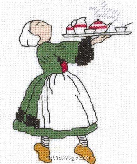 broderie cuisine broderie au point de croix bécassine à la cuisine sur