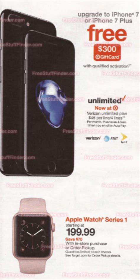 target iphone promotion target offers 300 gift card with iphone 7 purchases 13083
