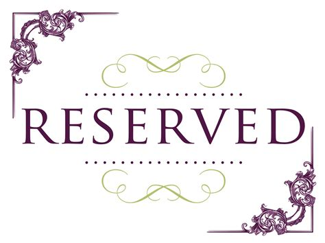 reserved seating signs cake ideas  designs