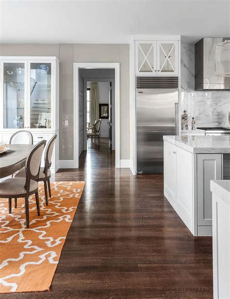 Gray And Orange Dining Rooms  Transitional  Dining Room