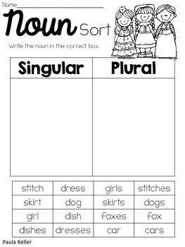 singular  plural nouns  learning growing smiling tpt