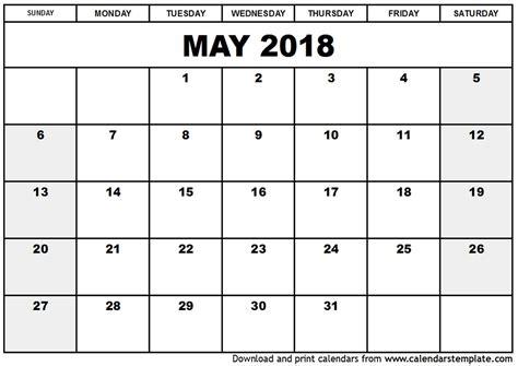 monthly calendar template 2018 may 2018 calendar template monthly calendar 2017