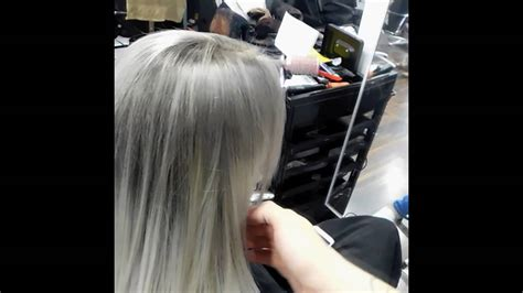 Evolution Of Colour Hair Dye by Grey And Silver Ombre Hair Tutorial Alfaparf Colours And