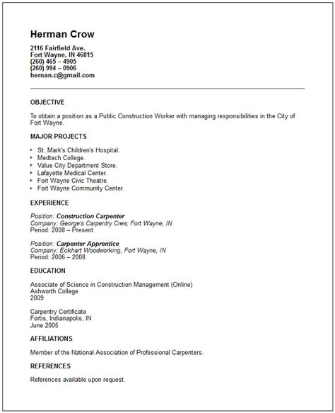 Community Service Resume Template by Services Resume Exles
