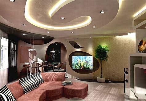 Wohnzimmer Decken Gestalten  Haus Dekoration