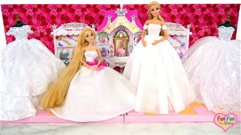 princess doll wedding dress barbie elsa cinderella putri