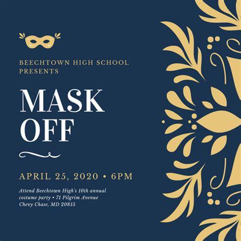 customize  masquerade invitation templates  canva