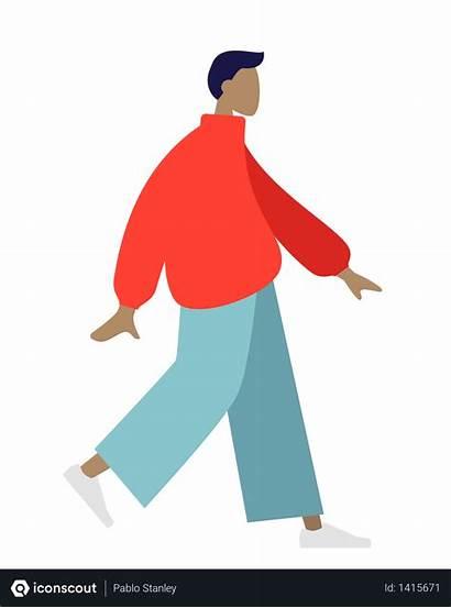Walking Illustration Vector Illustrations Format