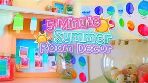 DIY 5 MINUTE ROOM DECOR! Cute summer projects that you ...