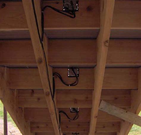 Underside Deck Steps Showing Low Voltage Lighting