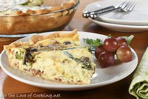 Bacon, Asparagus, and Mushroom Quiche with Gruyere and ...