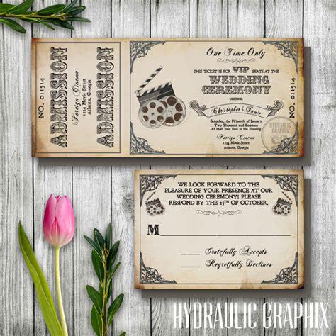 themed wedding invitation templates