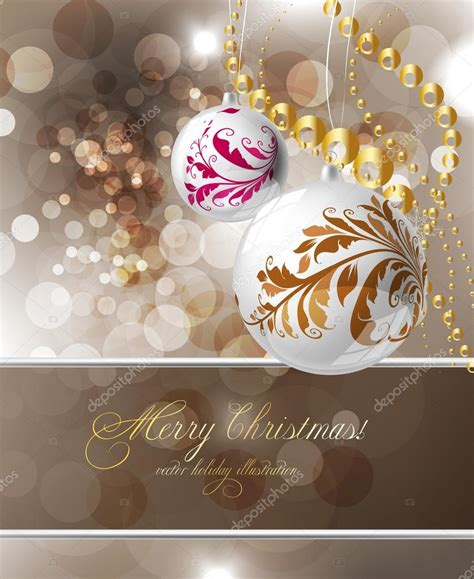 Elegant christmas background with place for new year text