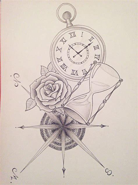 boussole rose sablier montre dessins  dessins